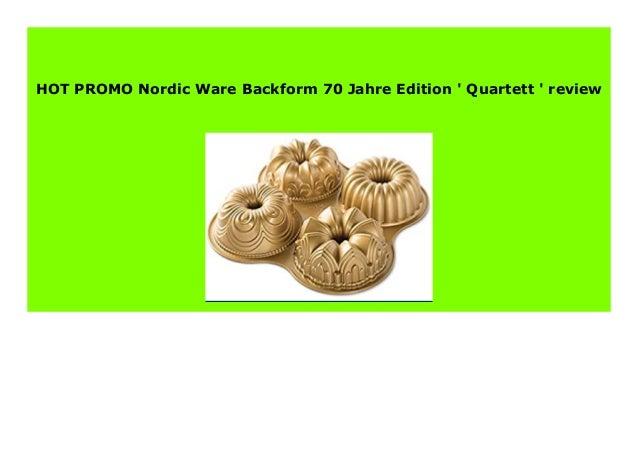 Nordic Ware Backform 70 Jahre Edition  Quartett