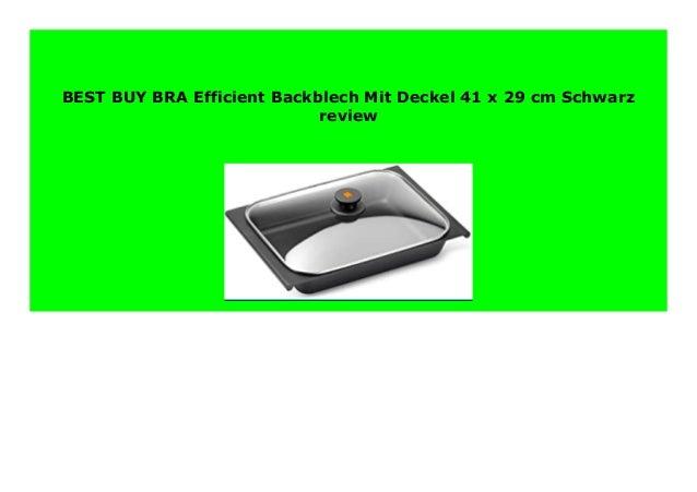 BRA Efficient Backblech Mit Deckel 41 x 29 cm Schwarz