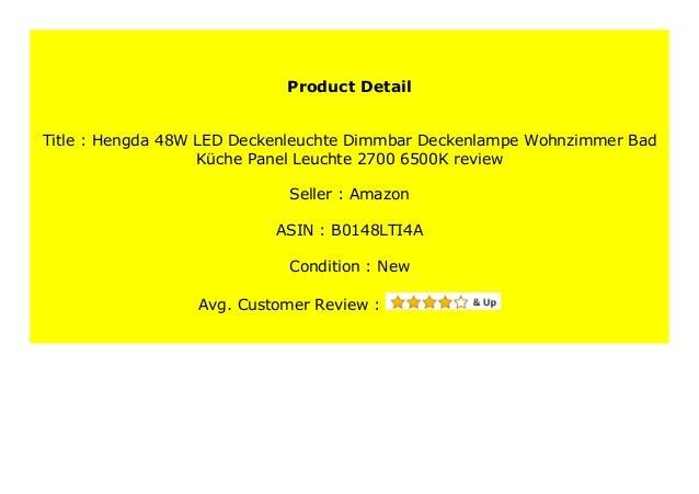 Best Price Hengda 48w Led Deckenleuchte Dimmbar Deckenlampe Wohnzimme