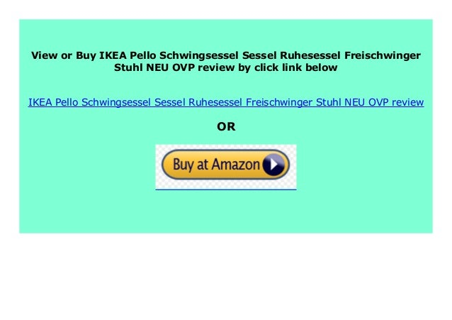 IKEA Pello Schwingsessel Sessel Ruhesessel Freischwinger Stuhl NEU /& OVP