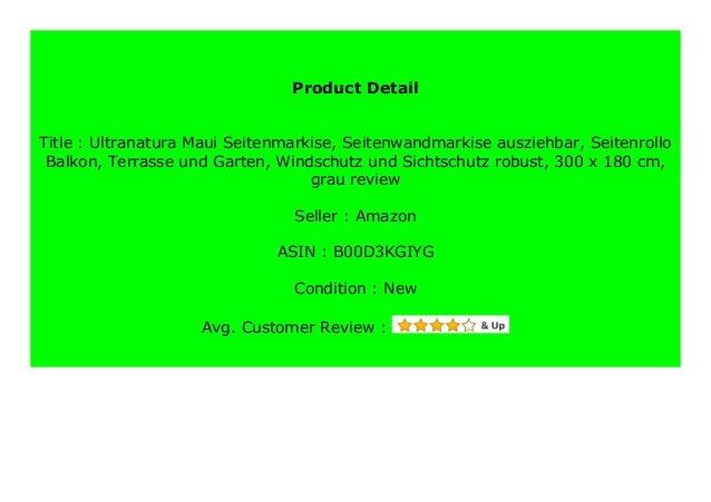 Seitenmarkise Seitenwandmarkise Markise Sichtschutz Seitenrollo Ausziehbare Neu
