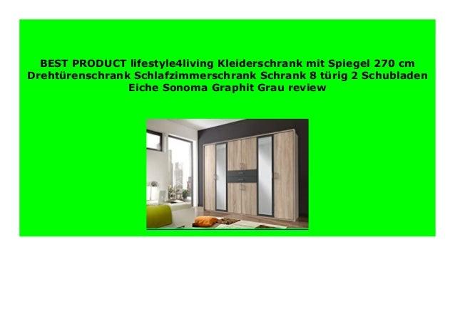 NEW lifestyle4living Kleiderschrank mit Spiegel 270 cm Dreht rensch…