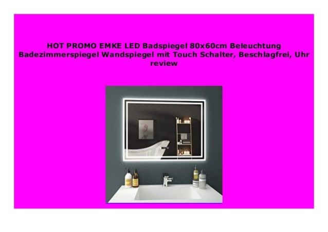 BEST BUY EMKE LED Badspiegel 80x60cm Beleuchtung ...