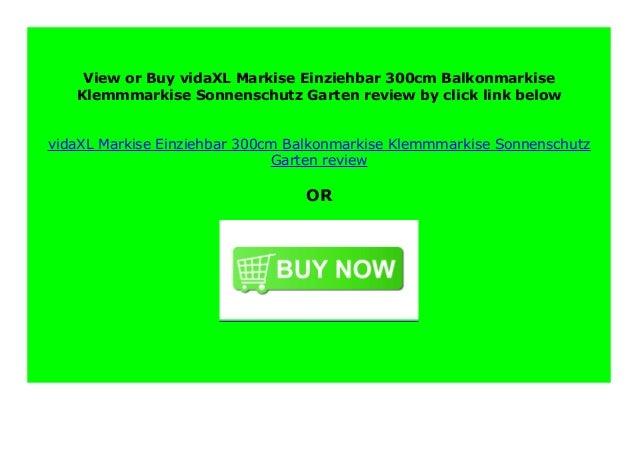 vidaXL Markise Einziehbar 300cm Balkonmarkise Klemmmarkise Sonnenschutz Garten