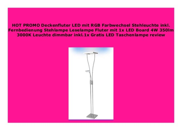 LED Deckenfluter Stehlampe Stehleuchte Lampe Leseleuchte Dimmbar Fluter