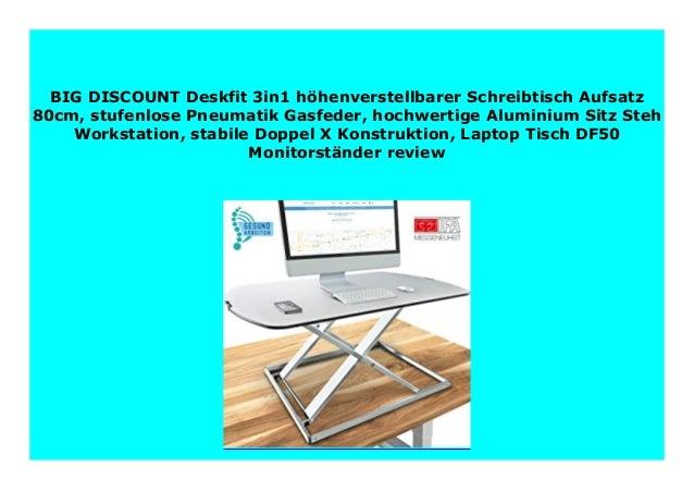 Steh-Sitz Schreibtisch Schreibtischaufsatz Computertisch Höhenverstellbarer 80cm