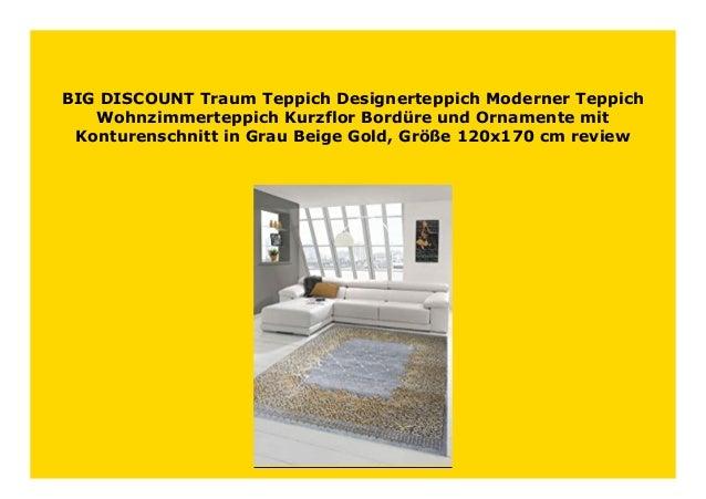 Designer Teppich Moderner Teppich Wohnzimmer Teppich Bordüre und Ornamente Kurzf
