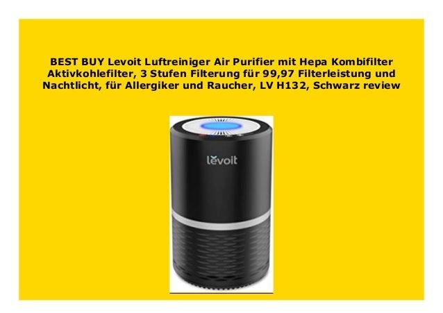 3-Stuf Levoit Luftreiniger Air Purifier mit HEPA-Kombifilter /& Aktivkohlefilter