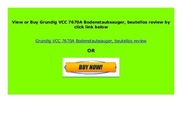 beutellos Grundig VCC 7670A Bodenstaubsauger
