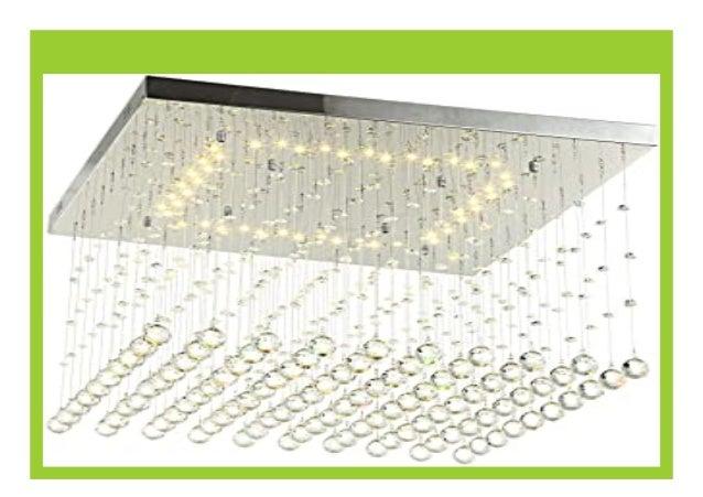 Big Discount Led Deckenlampe Deckenleuchte Glas Kristall Strass Tr Pf
