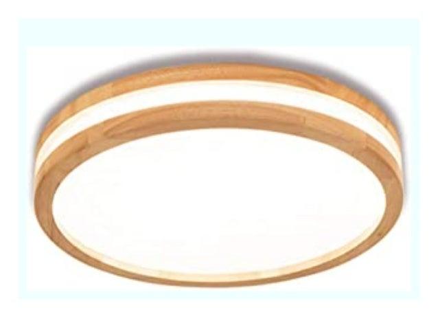 Best Price Deckenleuchte Holz Wohnzimmer Lampe Rund Schlafzimmer Holz