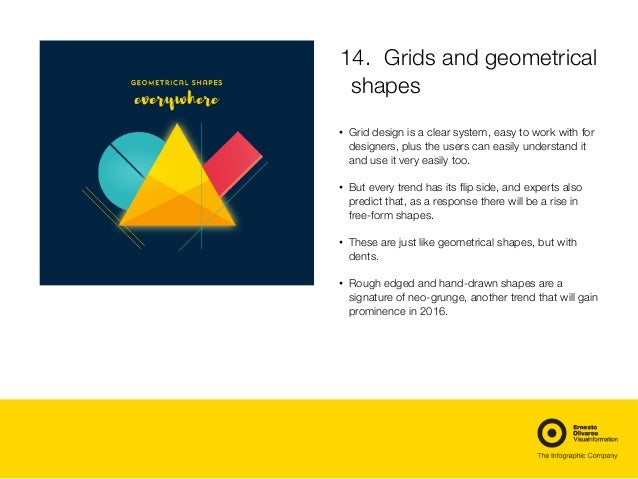 14. Grids and geometrical shapes  • Grid design is a clear system, easy to work with for designers, plus the users can e...