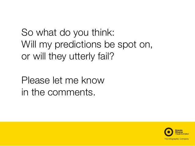 So what do you think: Will my predictions be spot on, or will they utterly fail? Please let me know in the comments.