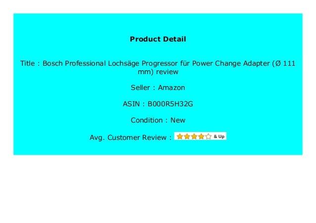Bosch Professional Lochs/äge Progressor f/ür Power-Change-Adapter /Ø 127 mm