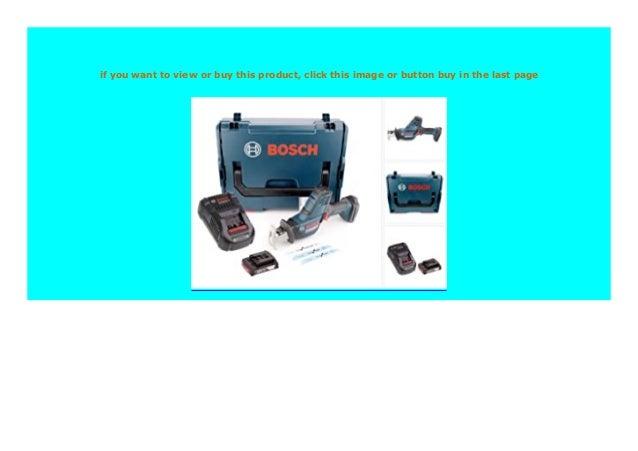 Bosch GSA 18 V-Li N 18 V Li-Ion Akku Säbelsäge Ladegerät 2 x 5,0 Ah Akku