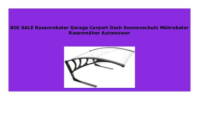 Rasenmäher Garage Mähroboter Dach Mähroboter Carport Rasenroboter Automower