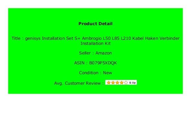 Installation Set S Ambrogio L50 L85 L210 Kabel Haken Verbinder Installation Kit
