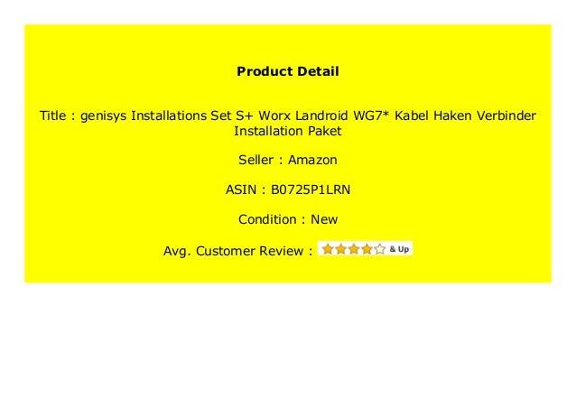 Worx Landroid WG7* Kabel Haken Verbinder Installation Paket Installations-Set L