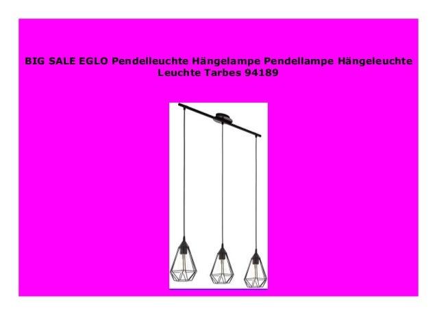 EGLO Pendelleuchte H/ängelampe Pendellampe H/ängeleuchte Leuchte Tarbes 94189