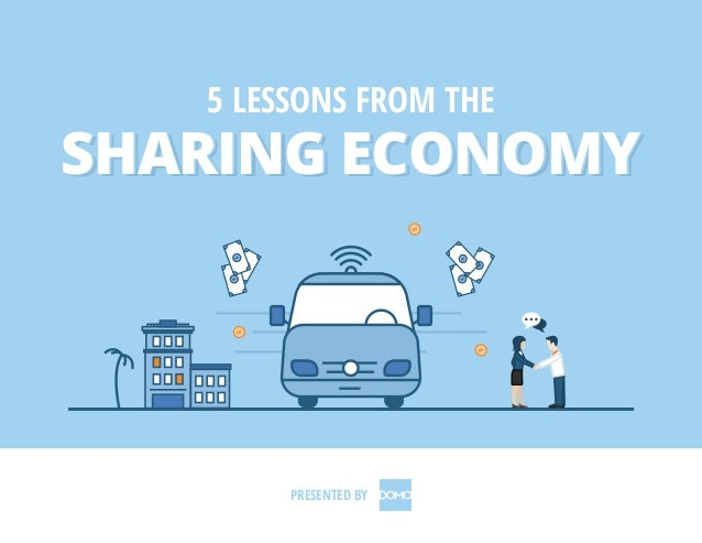 SHARING ECONOMYSHARING ECONOMY 5 LESSONS FROM THE SHARING ECONOMY PRESENTED BY