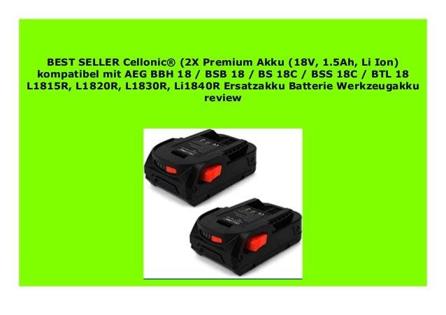 18.0V Battery for AEG BBM 18 STX BFL 18 BHO 18 L1815R 1500mAh NEW