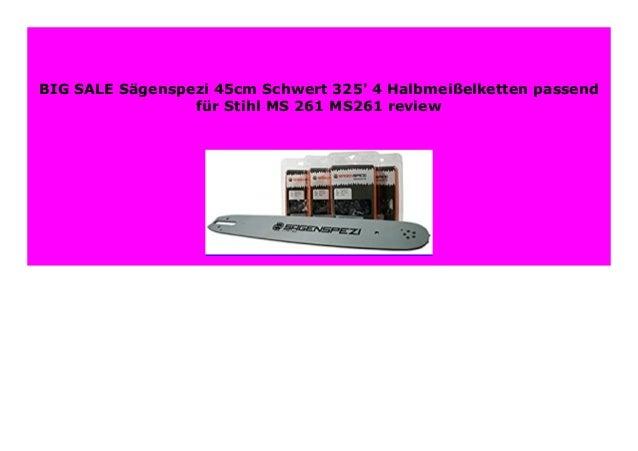 """45cm Schwert 325/"""" 4 Ketten für Stihl MS 261 MS261 guide bar chain"""