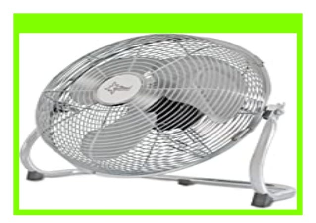 Suntec Wellness 11825 CoolBreeze 5000 BV Bodenventilator 145 W 220 V chrome 60 x 60 x 20 cm