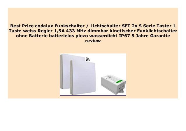 codalux Funkschalter E-Serie TASTER  kabellos  batterielos  2 Tasten weiß