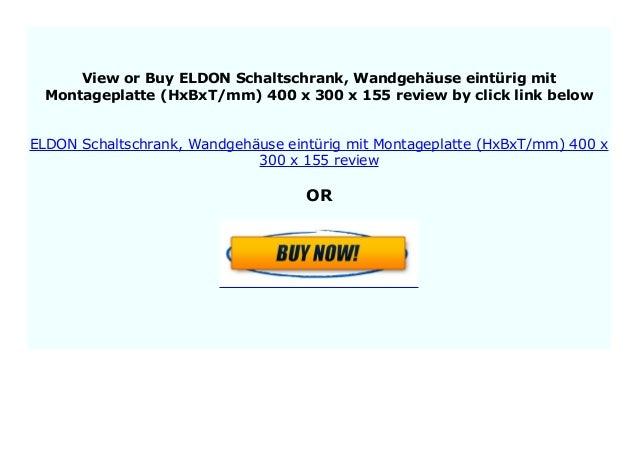 350 x 250 x 155 ELDON Schaltschrank Wandgeh/äuse eint/ürig mit Montageplatte HxBxT//mm