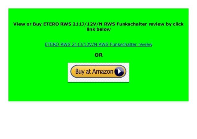 ETERO RWS-211D//12V//N RWS Funkschalter