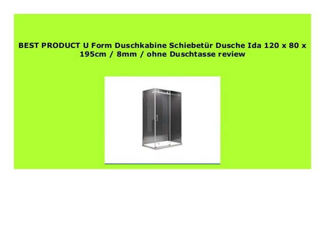 New U Form Duschkabine Schiebet R Dusche Ida 120 X 80 X 195cm