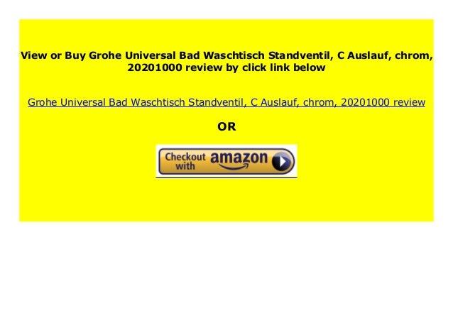 20201000 C-Auslauf chrom Grohe Universal Bad-Waschtisch-Standventil