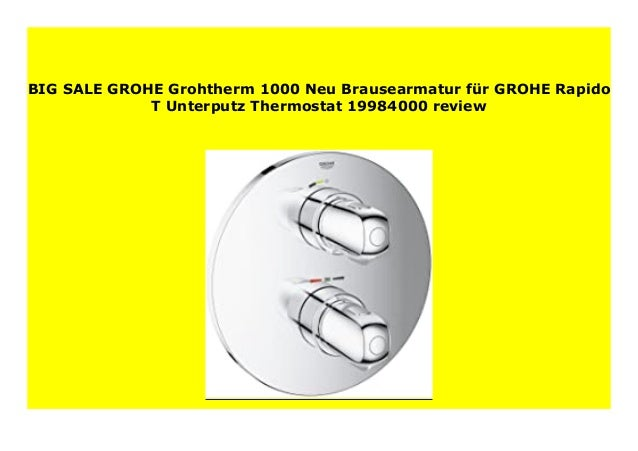 Best Seller Grohe Grohtherm 1000 Neu Brausearmatur F R Grohe