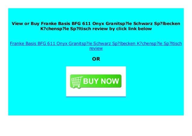 SELL Franke Basis BFG 611 Onyx Granitsp?le Schwarz Sp ...