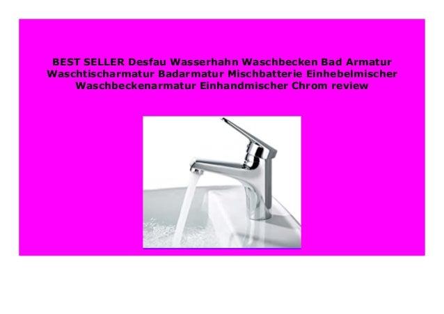 Badarmatur Wasserhahn Waschtisch Mischbatterie Einhebelmischer Waschbecken Bad A