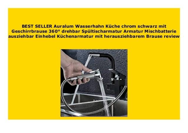 DISCOUNT Auralum Wasserhahn K che chrom schwarz mit ...