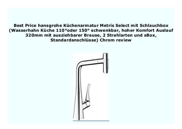 NEW hansgrohe K chenarmatur Metris Select mit Schlauchbox ...