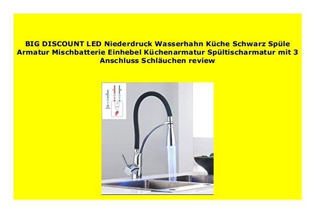 BEST PRODUCT LED Niederdruck Wasserhahn K che Schwarz Sp ...