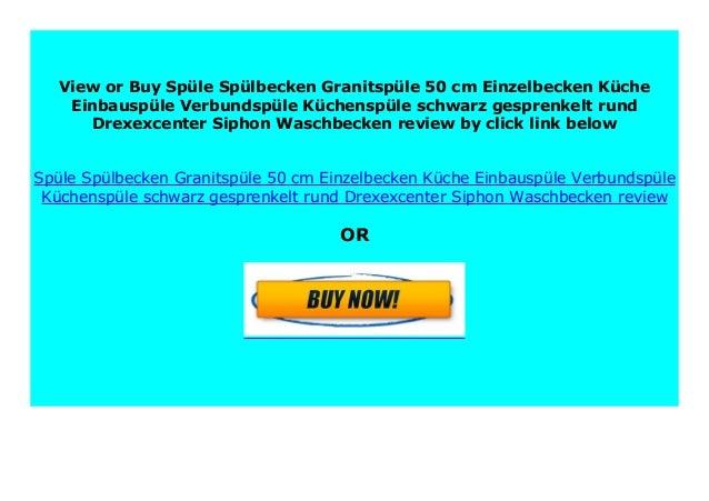 HOT PROMO Sp le Sp lbecken Granitsp le 50 cm Einzelbecken ...