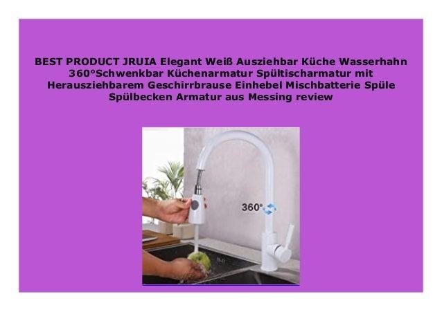 BEST BUY JRUIA Elegant Wei Ausziehbar K che Wasserhahn 360 ...