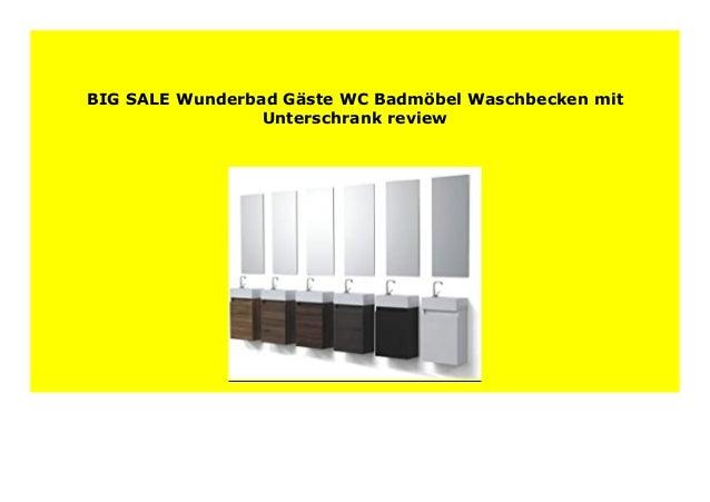 BEST BUY Wunderbad G ste WC Badm bel Waschbecken mit Unterschrank rev…