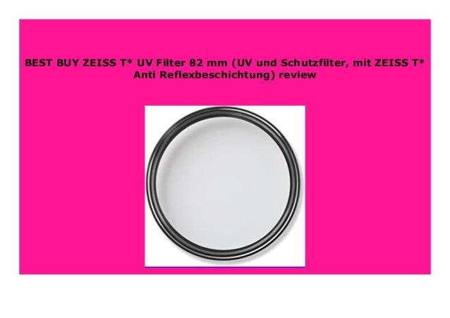 UV- und Schutzfilter, mit ZEISS T* Anti-Reflexbeschichtung ZEISS T* UV Filter 62 mm