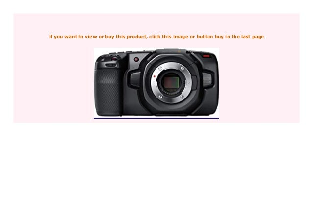 Discount Blackmagic Design Pocket Cinema Camera 4k Steckplatz F R Sp