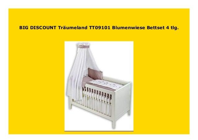 Träumeland TT09101 Bett-Set Blumenwiese 3-tlg
