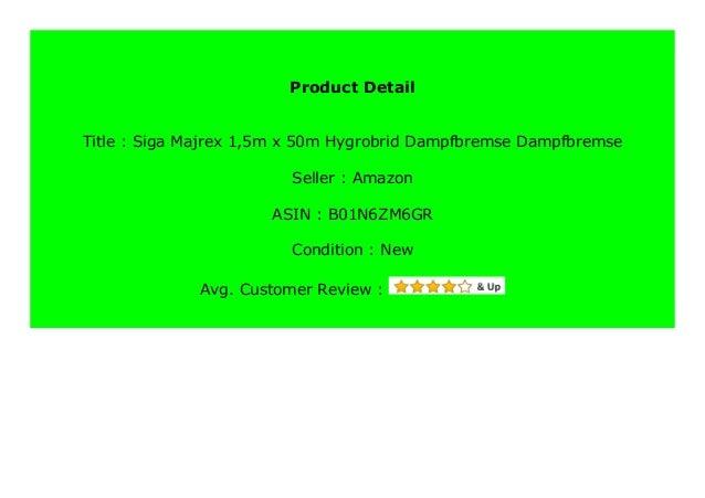 Siga Majrex 1,5m x 50m Hygrobrid-Dampfbremse Dampfbremse
