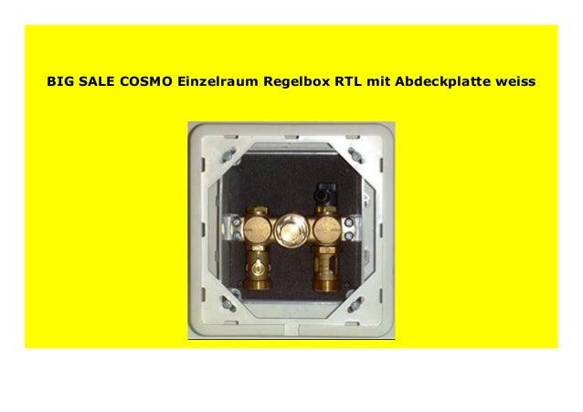 COSMO Einzelraum-Regelbox RTL mit Abdeckplatte weiss
