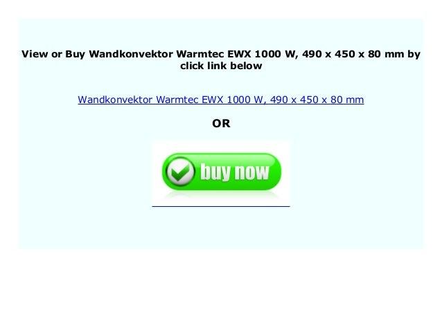Wandkonvektor Warmtec EWX 2000/W 740/x 450/x 80/mm