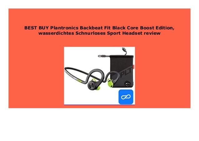 New Plantronics Backbeat Fit Black Core Boost Edition Wasserdichtes