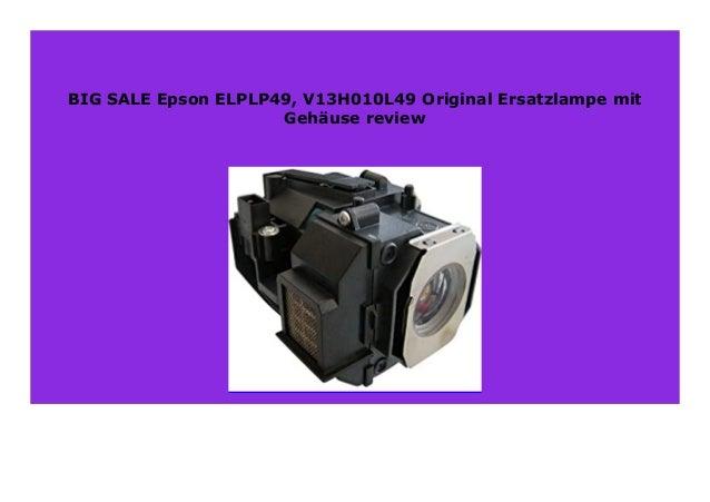 OSRAM Pro-Gen Ersatzlampe mit Geh/äuse f/ür EPSON ELPLP49