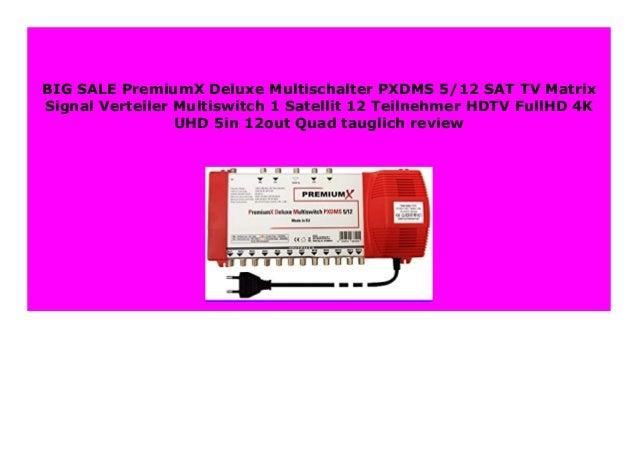 DELUXE 5//12 Quad Multischalter SAT Verteiler Matrix Multiswitch 12 Teilnehmer 4K